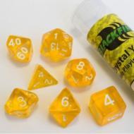 Blackfire Dice - 16mm Role Playing Dice Set - Crystal Yellow set od 7 kockica, frp, rpg, kockice d&d kockice