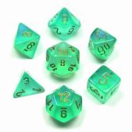 Chessex Light Green with Gold set od 7 kockica, frp, rpg, kockice d&d kockice