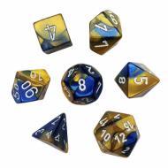 Chessex Blue Gold with White set od 7 kockica, frp, rpg, kockice d&d kockice