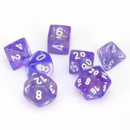 Chessex Purple with White set od 7 kockica, frp, rpg, kockice d&d kockice