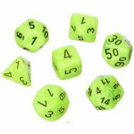 Chessex Bright Green with Black set od 7 kockica, frp, rpg, kockice d&d kockice