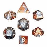 Chessex Copper Steel with White 7 die set kockica, društvena igra, porodična igra, poklon, board game, dečija igra, rođendan, pametan poklon