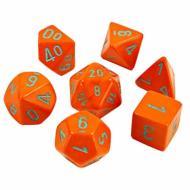 Chessex Heavy Orange with Turquoise 7-Dice Set