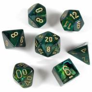 Chessex Jade with Gold 7 die set kockica, društvena igra, porodična igra, poklon, board game, dečija igra, rođendan, pametan poklon