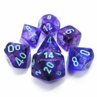 Chessex Nebula Nocturnal with Light Blue set od 7 kockica, frp, rpg, kockice d&d kockice