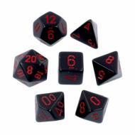 Chessex Opaque Black with Red kockice za Dungeons & Dragons