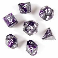 Chessex Purple Steel with White 7die set kockica,društvena igra, poklon, board game,  rođendan, pametan poklon,kooperativna igra