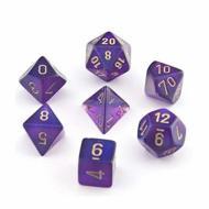 Chessex Royal Purple with Gold set od 7 kockica, frp, rpg, kockice d&d kockice