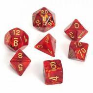 Chessex Scarlet with Gold set od 7 kockica, frp, rpg, kockice d&d kockice