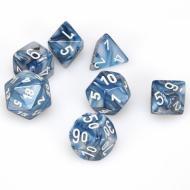 Chessex Slate with White 7 die set kockica, društvena igra, porodična igra, poklon, board game, dečija igra, rođendan, pametan poklon