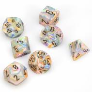 Chessex Vibrant with Brown 7 die set kockica, društvena igra, porodična igra, poklon, board game, dečija igra, rođendan, pametan poklon