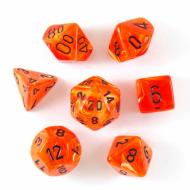 Chessex Orange with Black set od 7 kockica, frp, rpg, kockice d&d kockice