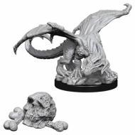 Društvene igre, figurice, minijature, boje za figure, D&D Nolzur's marvelous miniatures - Black Dragon Wyrmling