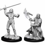 Društvene igre, figurice, minijature, boje za figure, D&D Nolzur's marvelous miniatures - Female Half-Orc Fighter
