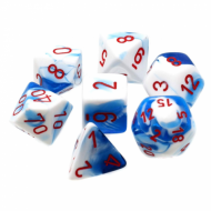 Chessex Gemini Astral Blue-White/Red, kockice, Dungeons & Dragons