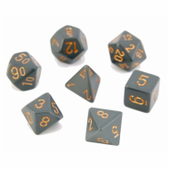 Chessex Opaque Dark Grey with Copper kockice za Dungeons & Dragons