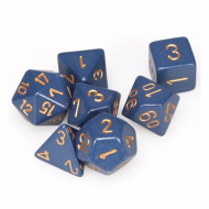 Chessex Opaque Dusty Blue with Gold kockice za Dungeons & Dragons