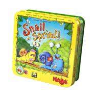 edukativna igra snail sprint, haba, kutija