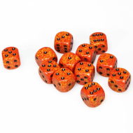 Chessex Speckled Fire 16mm D6 Dice Block (12 Dice)