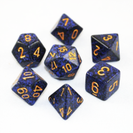 Chessex Speckled Golden Cobalt kockice za Dungeons & Dragons