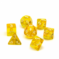 Chessex Translucent Yellow with White kockice za Dungeons & Dragons