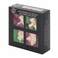 Mitoys Wooden Puzzle Quadruplets, mozgalice, puzzle, rubikova kocka, izazov, Beograd, online prodaja rubikovih kocki i mozgalica