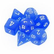 Chessex Frosted Blue with White kockice za Dungeons & Dragons
