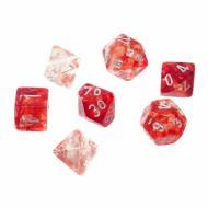 Chessex Nebula Red with Silver Luminary kockice za društvene igre