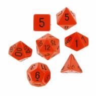 Chessex Opaque Orange with Black, set kockica, DnD, drustvene igre, porodicne igre, zabavne igre, FRP