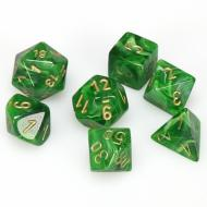 Chessex Vortex Green with Gold kockice za Dungeons & Dragons