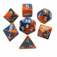 Chessex Blue Orange with White set od 7 kockica, frp, rpg, kockice d&d kockice
