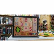 Kockice Alphabet, drvene kocke, igračka, engleski alphabet, društvena igra, porodična igra, poklon, board game, dečija igra, rođendan, pametan poklon