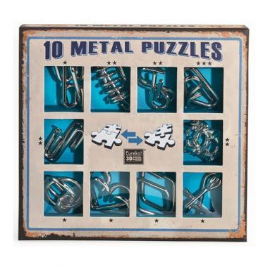10 Metal Puzzle Blue, Hanayama, Puzzle, logičke puzzle, mozgalice, žičane puzzle, glavolomke