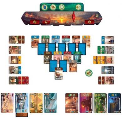 Društvena igra 7 wonders Duel, igre za dva igrača, strateške igre, porodične igre, igre sa resursima, društvene igre Beograd