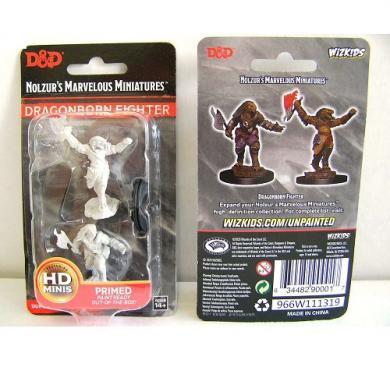 D&D Nolzur's Marvelous Miniatures Dragonborn Female Fighter WZK90001, FRP, Društvene igre, figurice, minijature, boje za figure, Fantasy role play