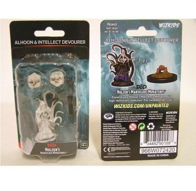 D&D Nolzur's Marvelous Miniatures Alhoon & Intellect Devourers, drustvene igre, drustvena igra, D&D, figure, minijature, miniji, figurice, dungeons and dragons, drustvene igre prodaja, neobojena
