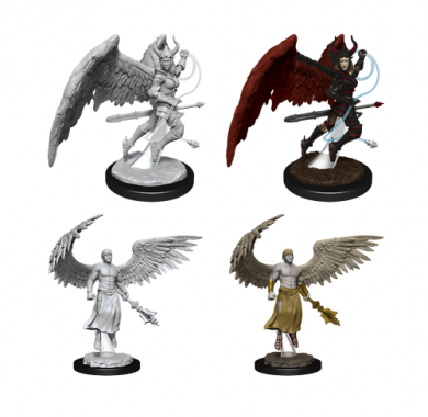 D&D Nolzur's Marvelous Miniatures Deva & Erinyes, drustvene igre, drustvena igra, D&D, figure, minijature, miniji, figurice, dungeons and dragons, drustvene igre prodaja, neobojena