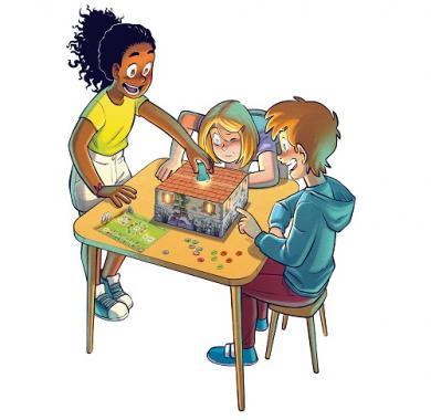Društvena igra Peek-a-Mouse ilustracija