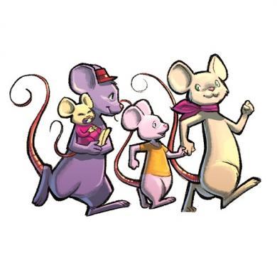 Društvena igra Peek-a-Mouse porodica miševa