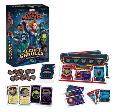 Društvena igra Captain Marvel: Secret Skrulls kutija i sadržaj
