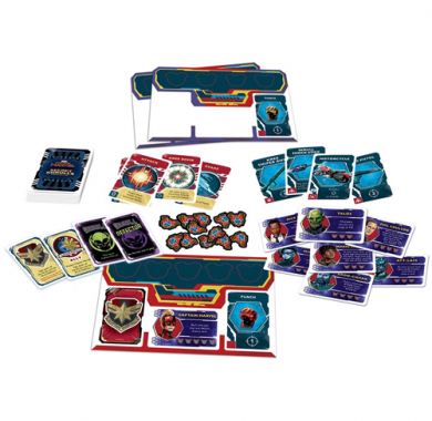 Društvena igra Captain Marvel: Secret Skrulls komponente