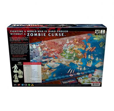 Drustvena igra Axis & Allies Zombies, poledjina kutije
