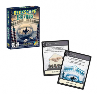 Drustvena igra, tematska igra, strateska igra, zabava, poklon, beograd, srbija, prodaja drustvenih igara, Deckscape: Heist in Venice