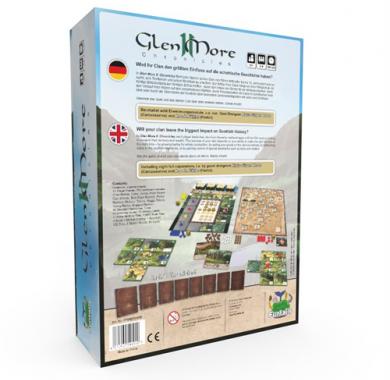 Društvena igra Glen More II Chronicles, poledjina kutije