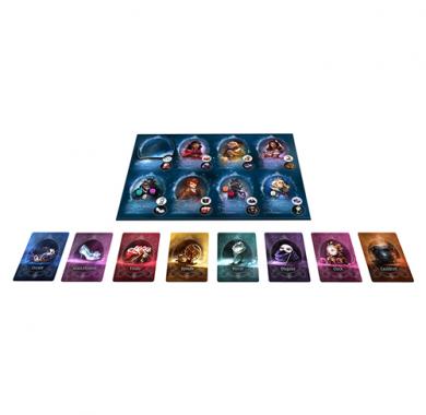 Društvena igra The Grimm Masquerade, karte i tabla