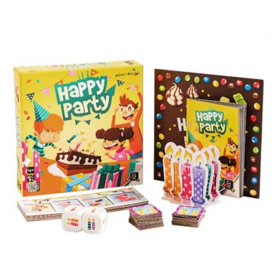 Edukativna igra Happy Party, drustvena igra, Sadrzaj kutije