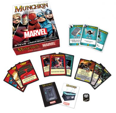 Društvena igra Munchkin marvel edition, sadržaj kutije