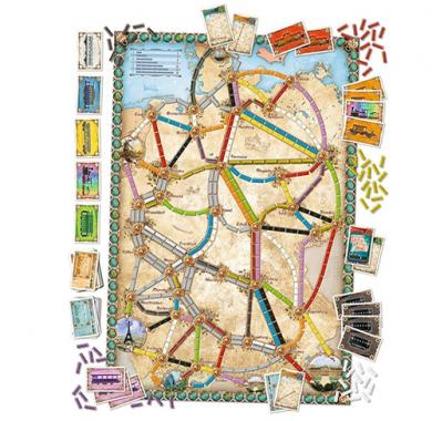 Ticket to Ride: Germany, Drustvena igra, porodicna igra, igra za poklon, zabava, poklon, beograd, prodaja drustvenih igara