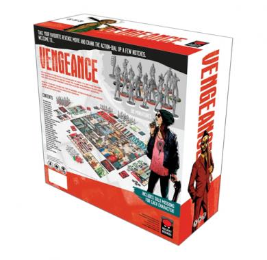 Društvena igra Vengeance zadnja strana kutije