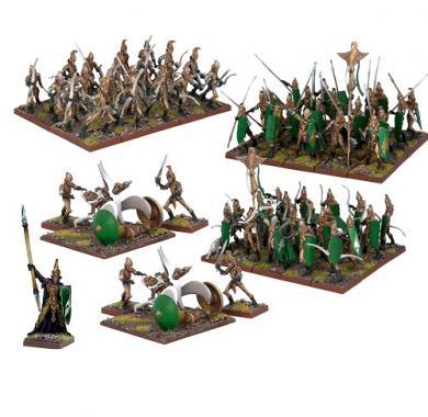 Kings of War - Elf Army, board game, strategija, minijature, ratna igra